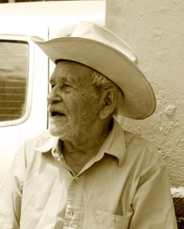 Elderly Man with a Cowboy Hat