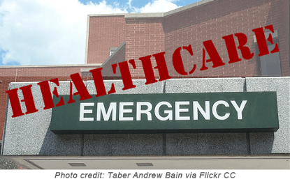 Healthcare Emergency Hospital Sign