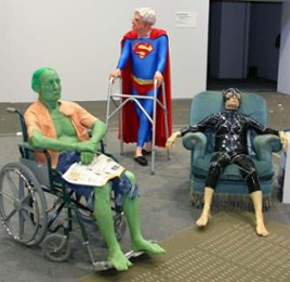 Elderly Patients Dressed as super Heros